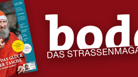 bodo - das Straßenmagazin mit dem Titel der bodo-Ausgabe 12/2020