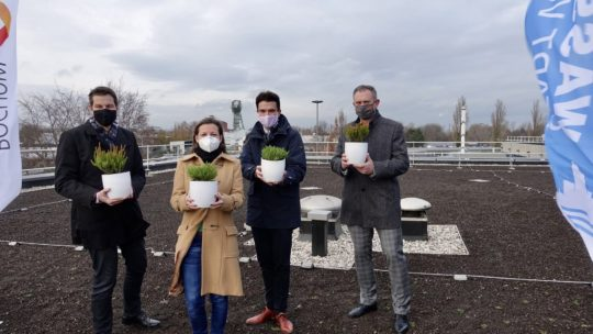 "Dachbegrünung Betriebshof Stadtwerke Bochum in Hamme (Projekt ""Klimaresiliente Region"" der Ruhrkonferenz)"
