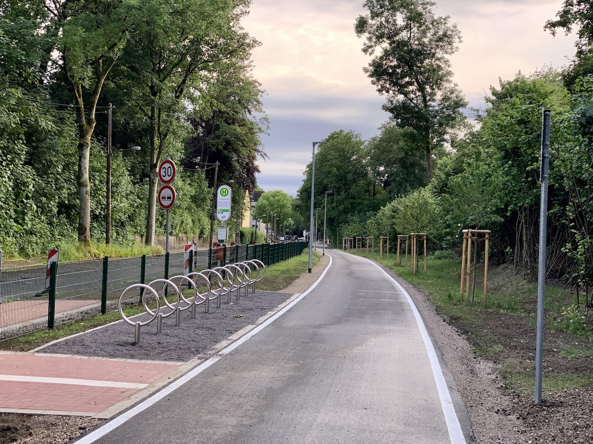 Springorumtrasse: Radabstellplätze in Dahlhausen