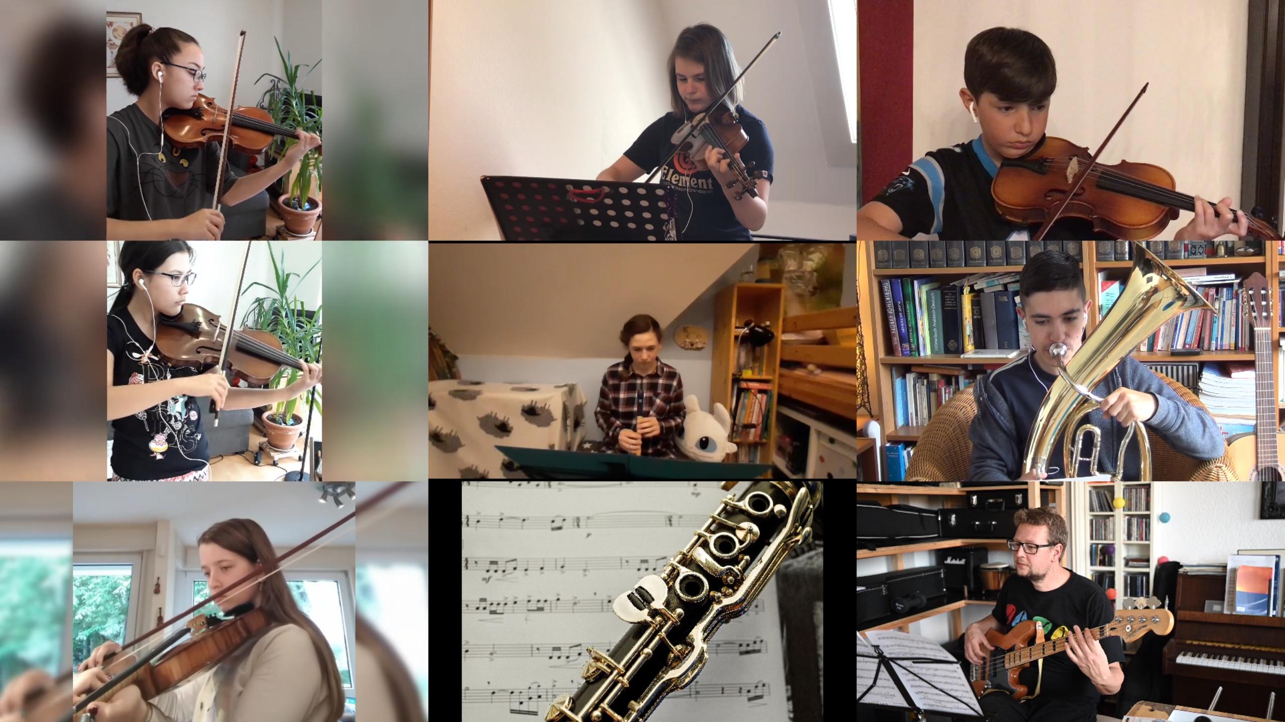 wwwinterkonzert (Graf-Engelbert-Schule Bochum): Orchester-Videogrid (Screenshot)