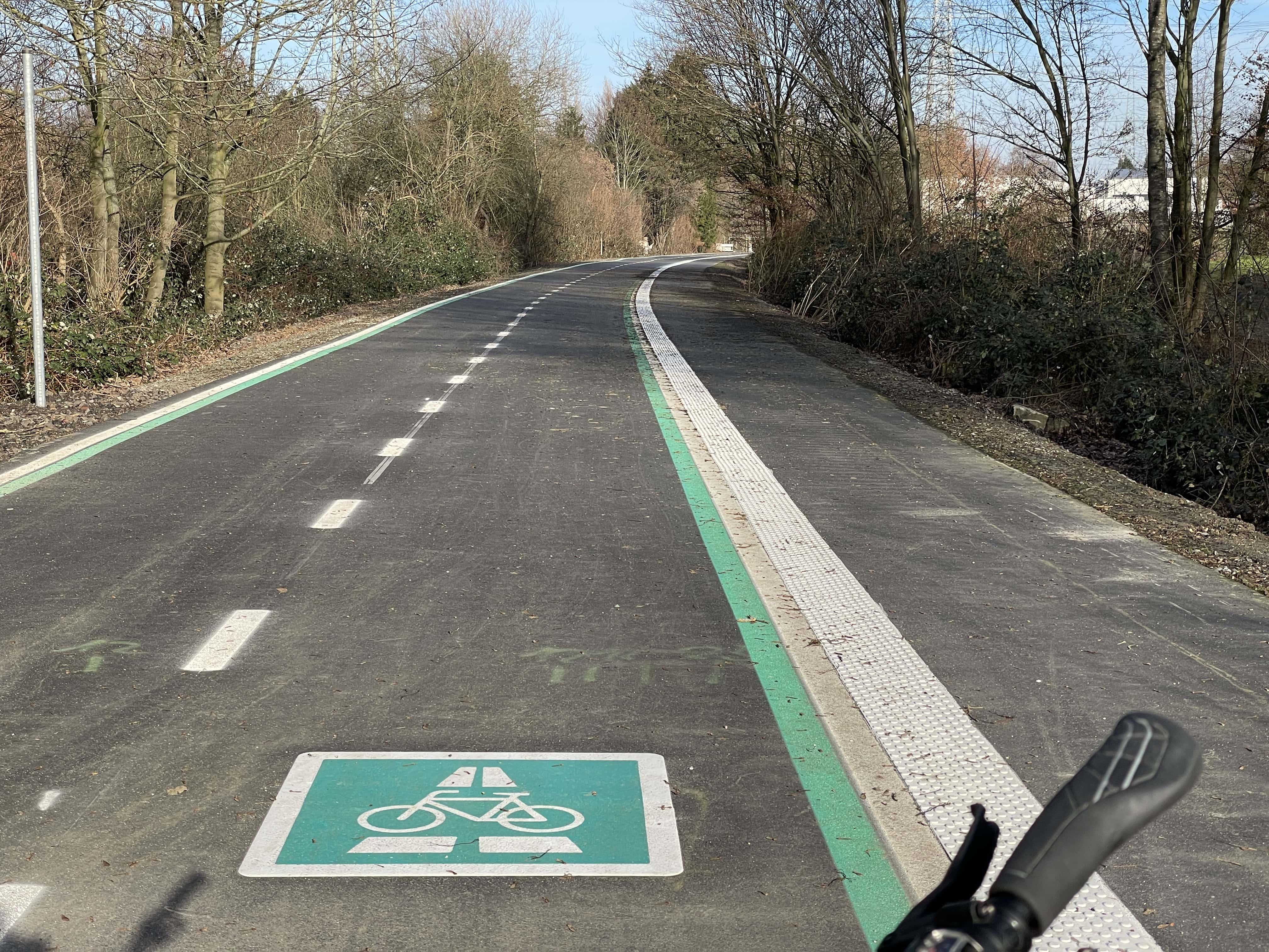 RS 1: Radschnellweg Ruhr - hier auf dem Stadtgebiet von Gelsenkirchen