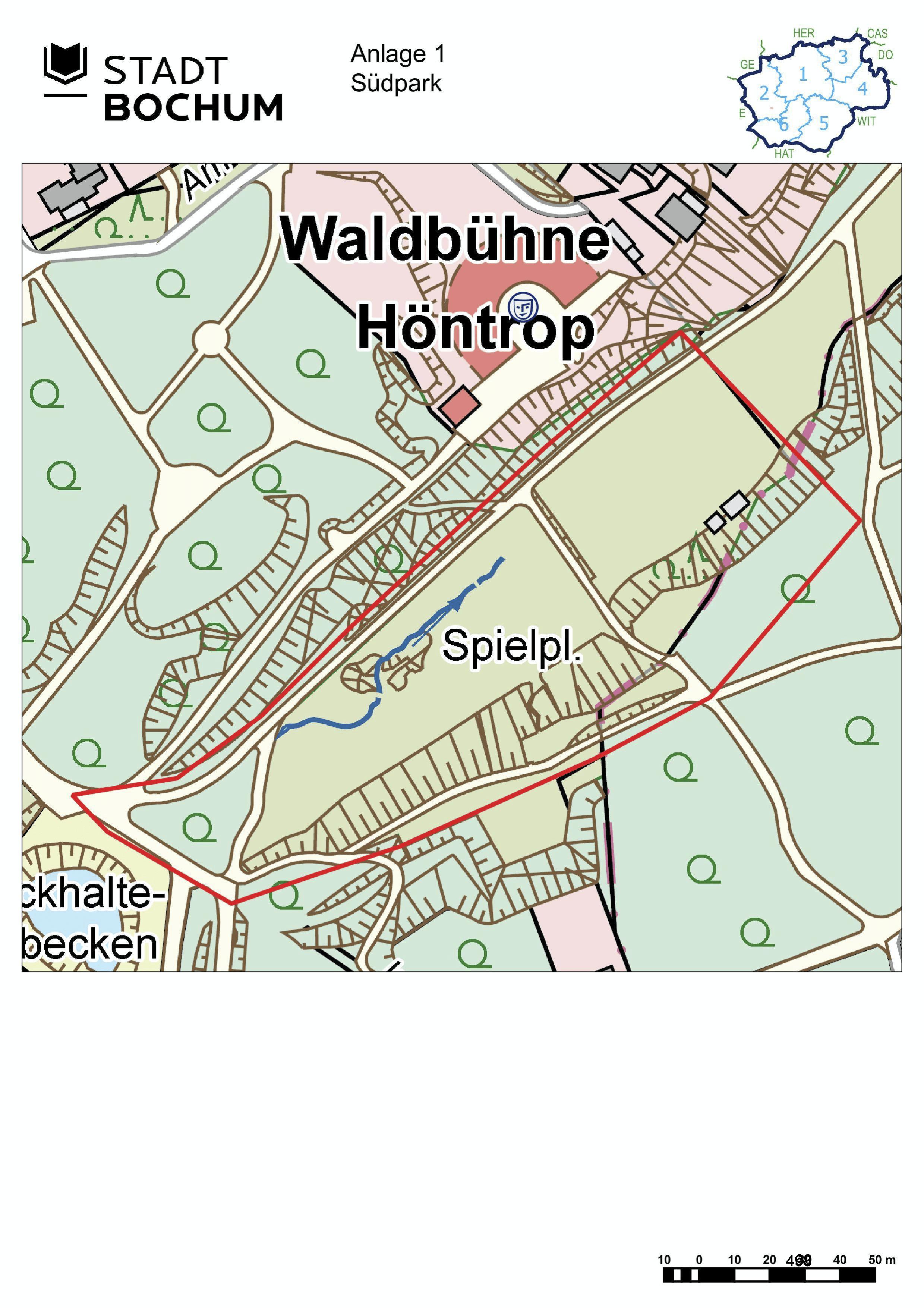 Anlage 1 (Südpark) der Sonderausgabe des Amtsblatts (28/2021)