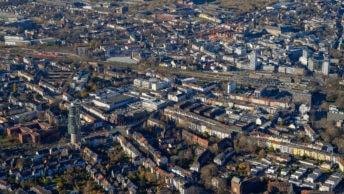 Luftaufnahme der Innenstadt von Bochum