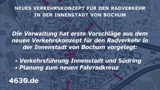 Neues Verkehrskonzept für den Radverkehr in der Innenstadt von Bochum