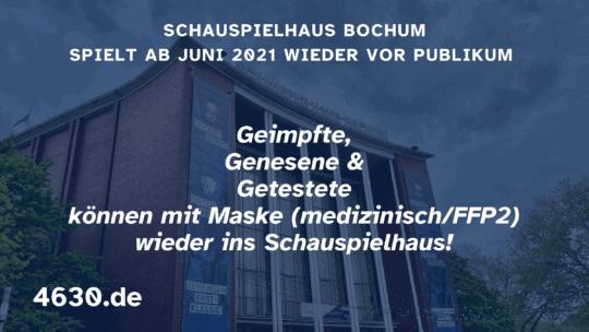 Schauspielhaus Bochum spielt ab Juni 2021 wieder vor Publikum