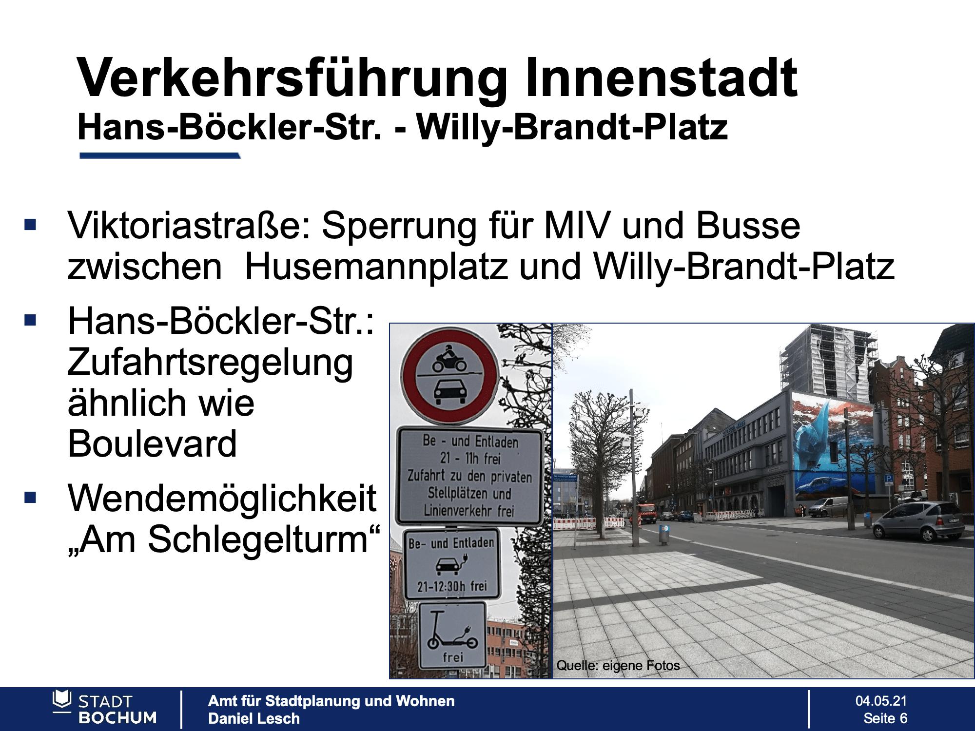 Verkehrsführung Innenstadt (Hans-Böckler-Straße - Willy-Brandt-Platz)