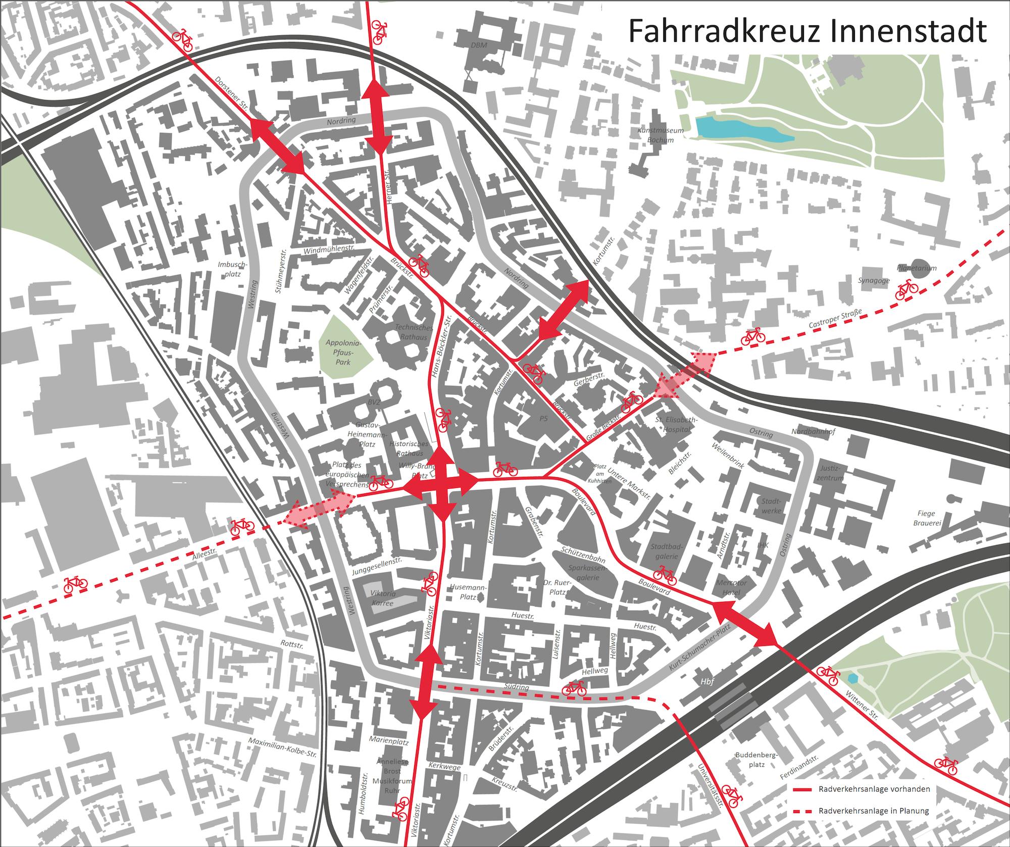 Vorschlag: Fahrradkreuz (Innenstadt Bochum)