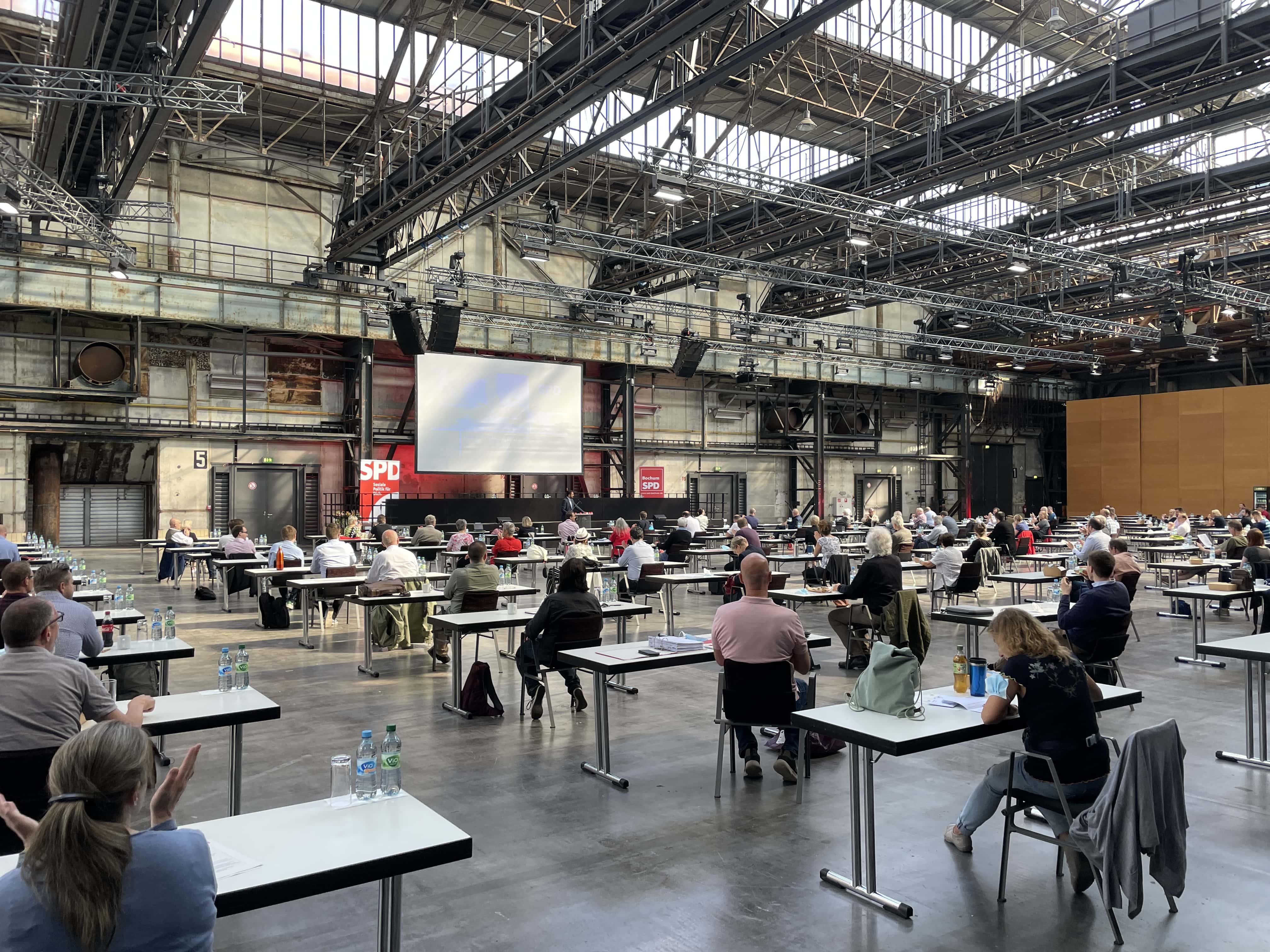 Parteitag der SPD Bochum in der Jahrhunderthalle Bochum (26. Juni 2021)