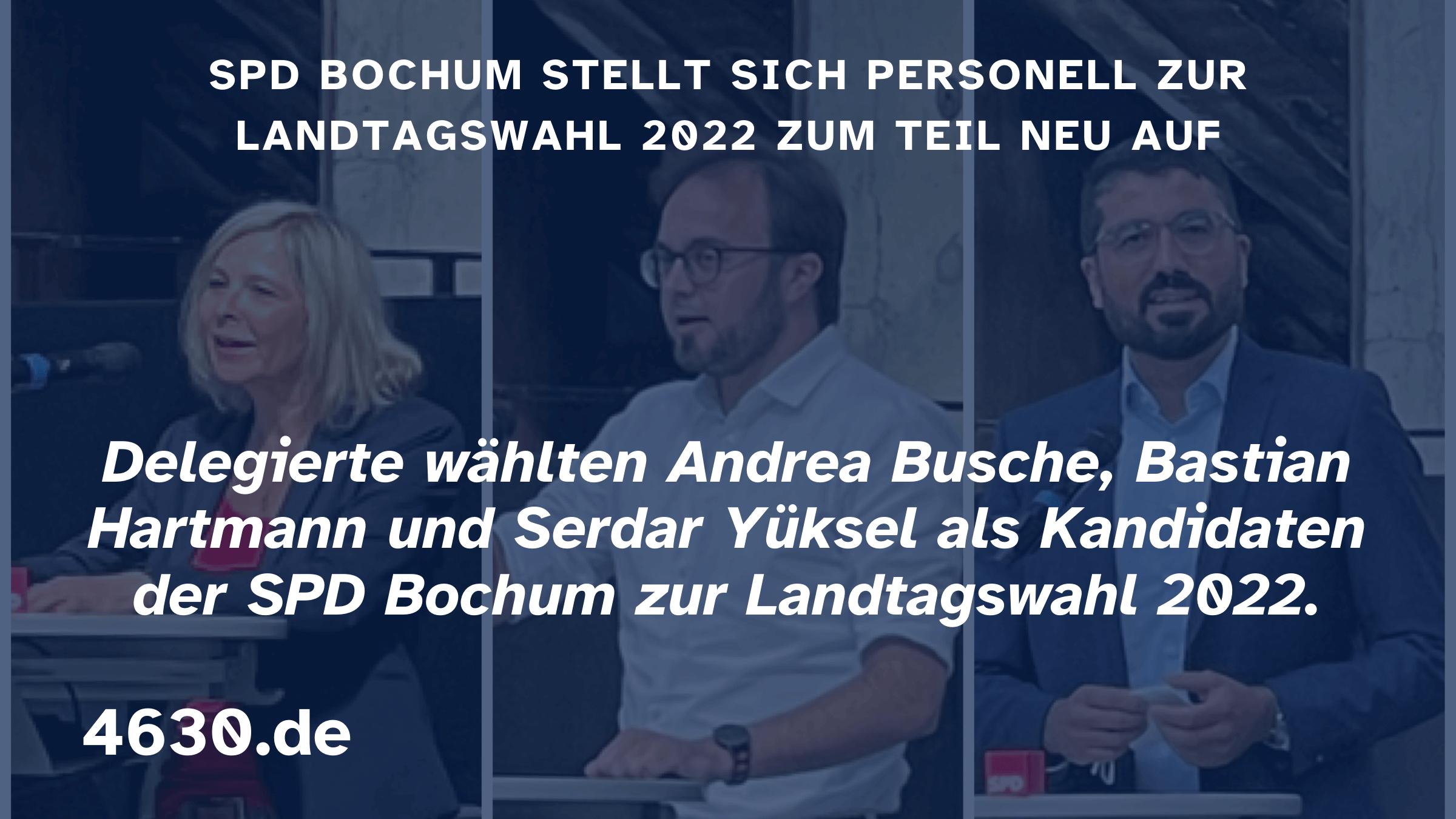 SPD Bochum stellt sich zur Landtagswahl 2022 zum Teil neu auf