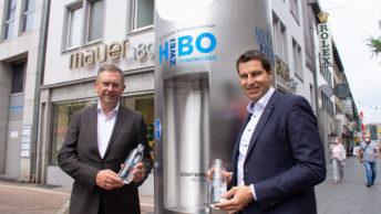Einweihung mobiler Trinkwasserspender