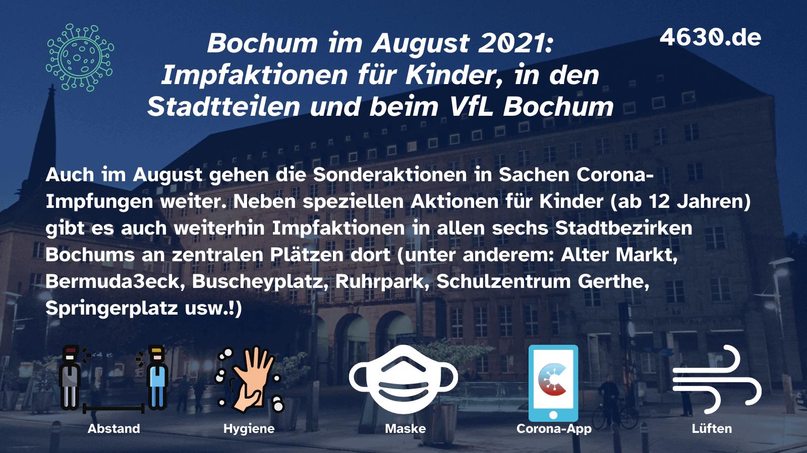 Impfaktionen in Bochum (im August 2021)