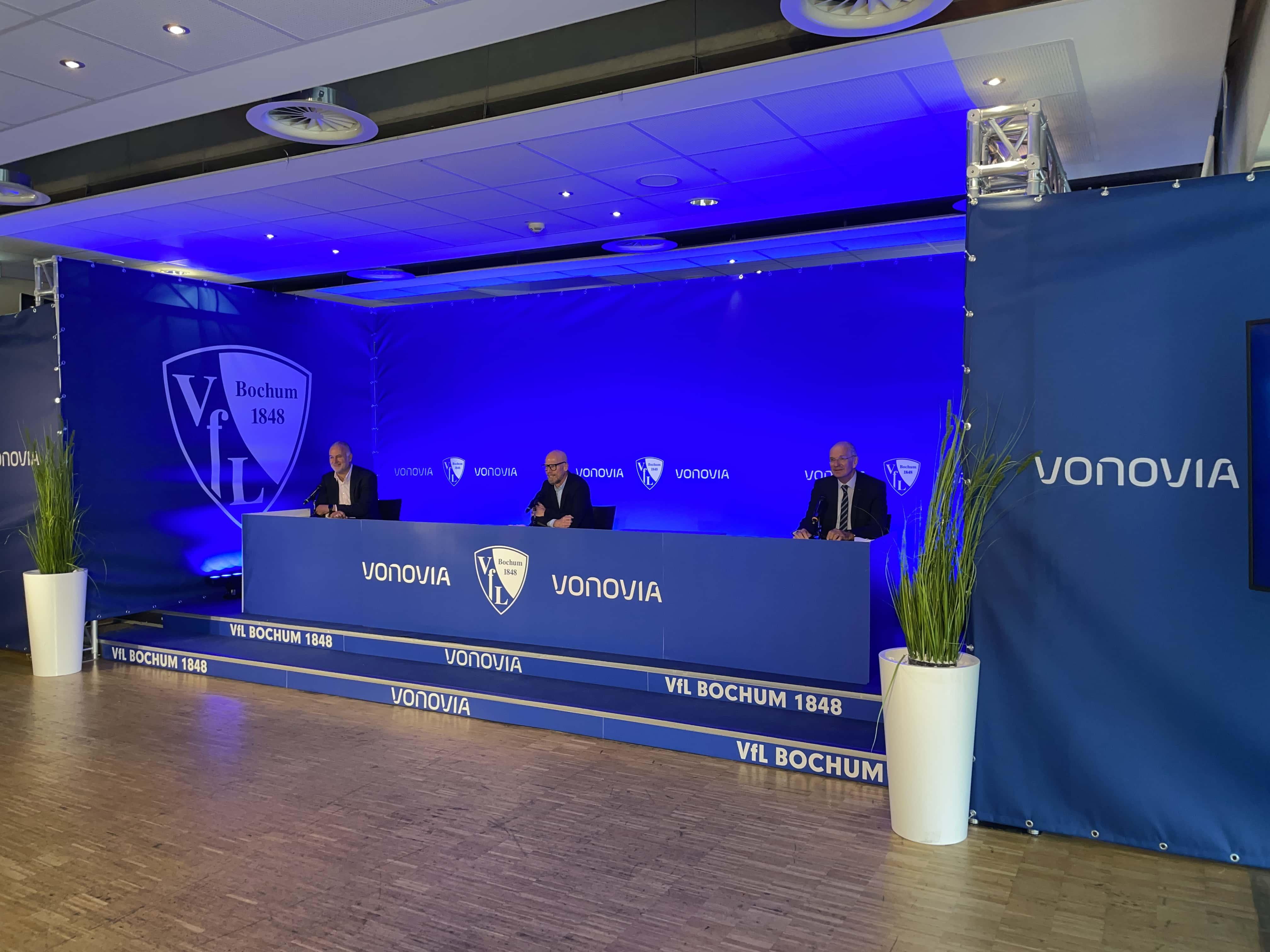 Pressekonferenz beim VfL Bochum mit dem neuen Hauptsponsor Vonovia