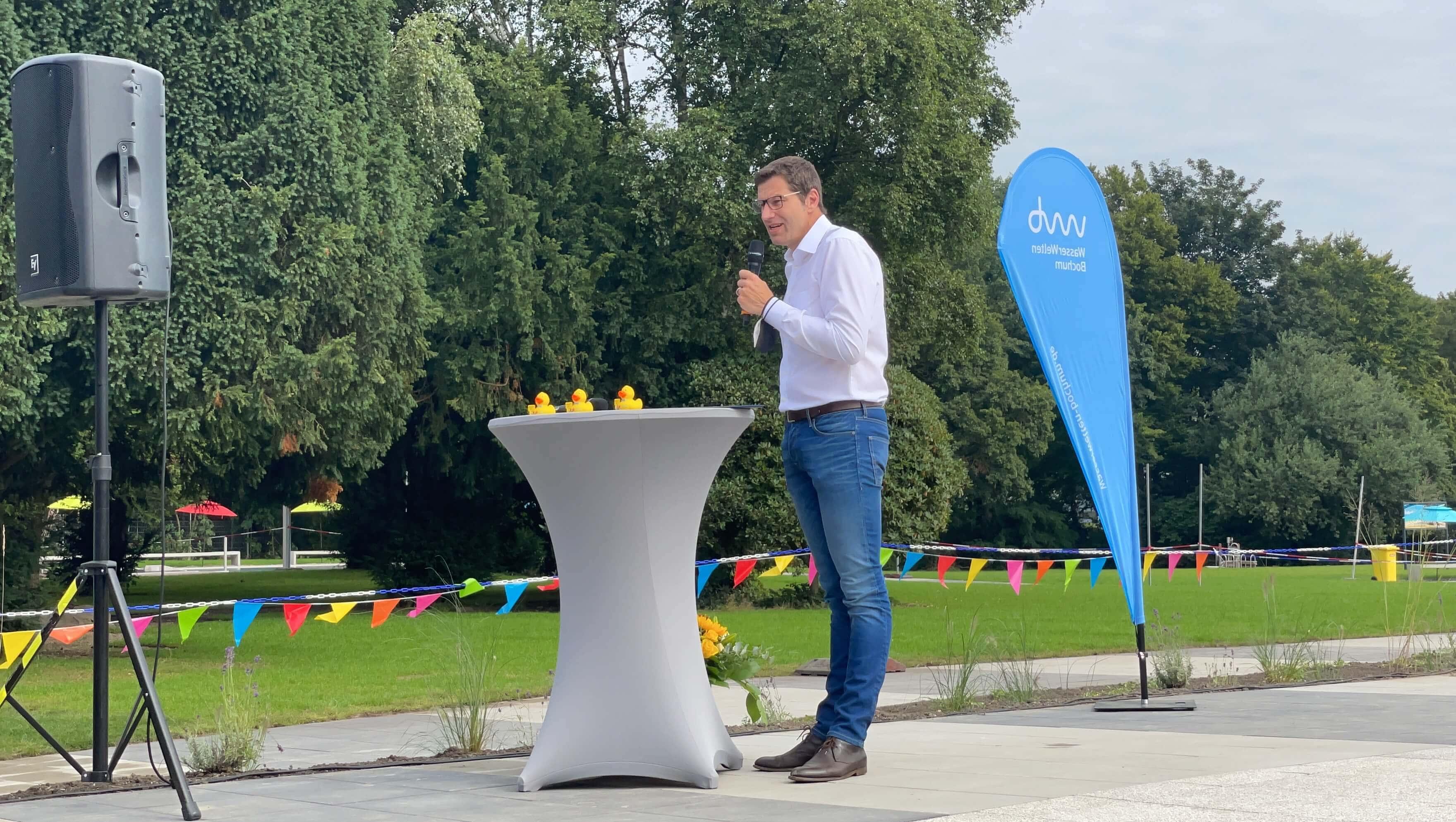Freibad Werne (WasserWelten Bochum): Thomas Eiskirch (SPD), Oberbürgermeister der Stadt Bochum