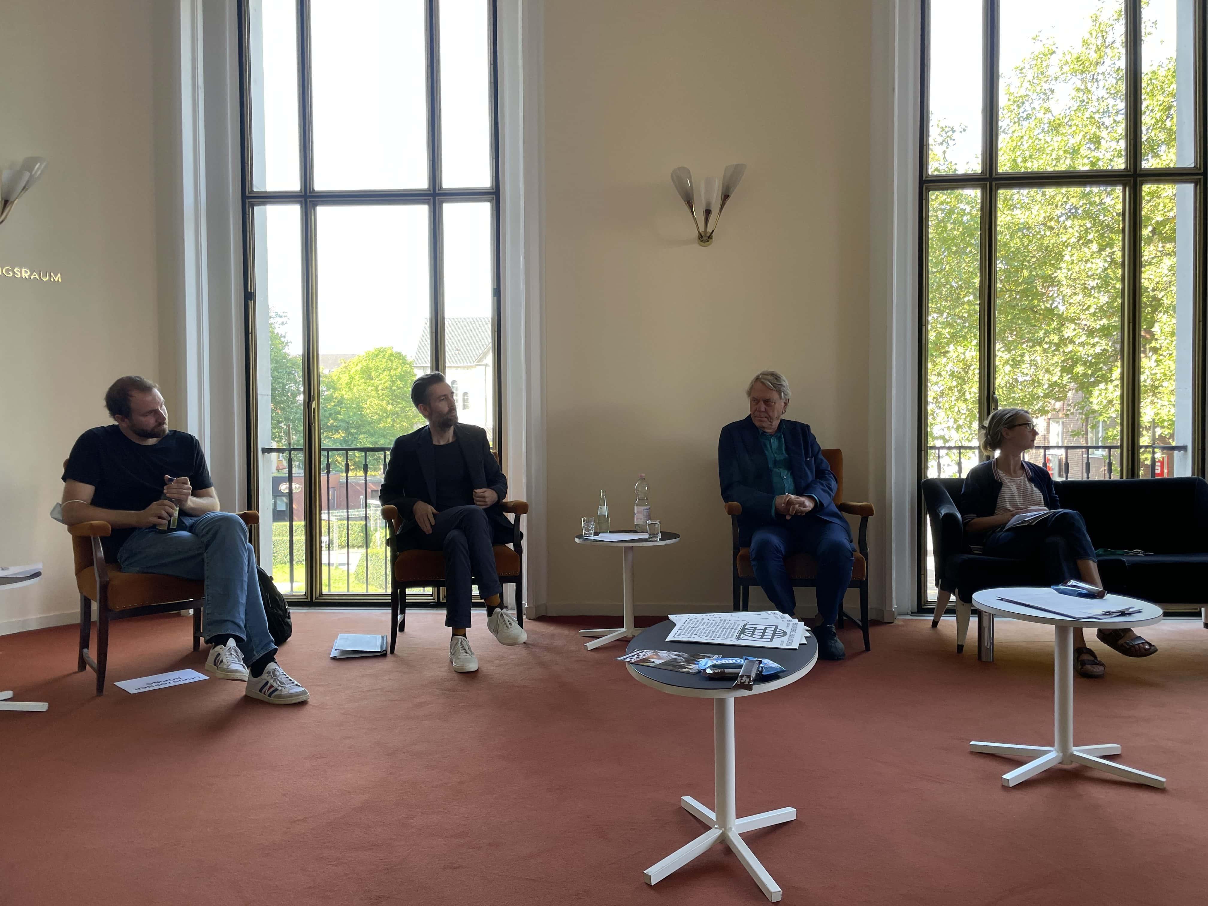 Schauspielhaus Bochum (Saison 2021-Auftaktgespräch): Christopher Rüping, Vasco Boenisch, Johan Simons, Angela Obst
