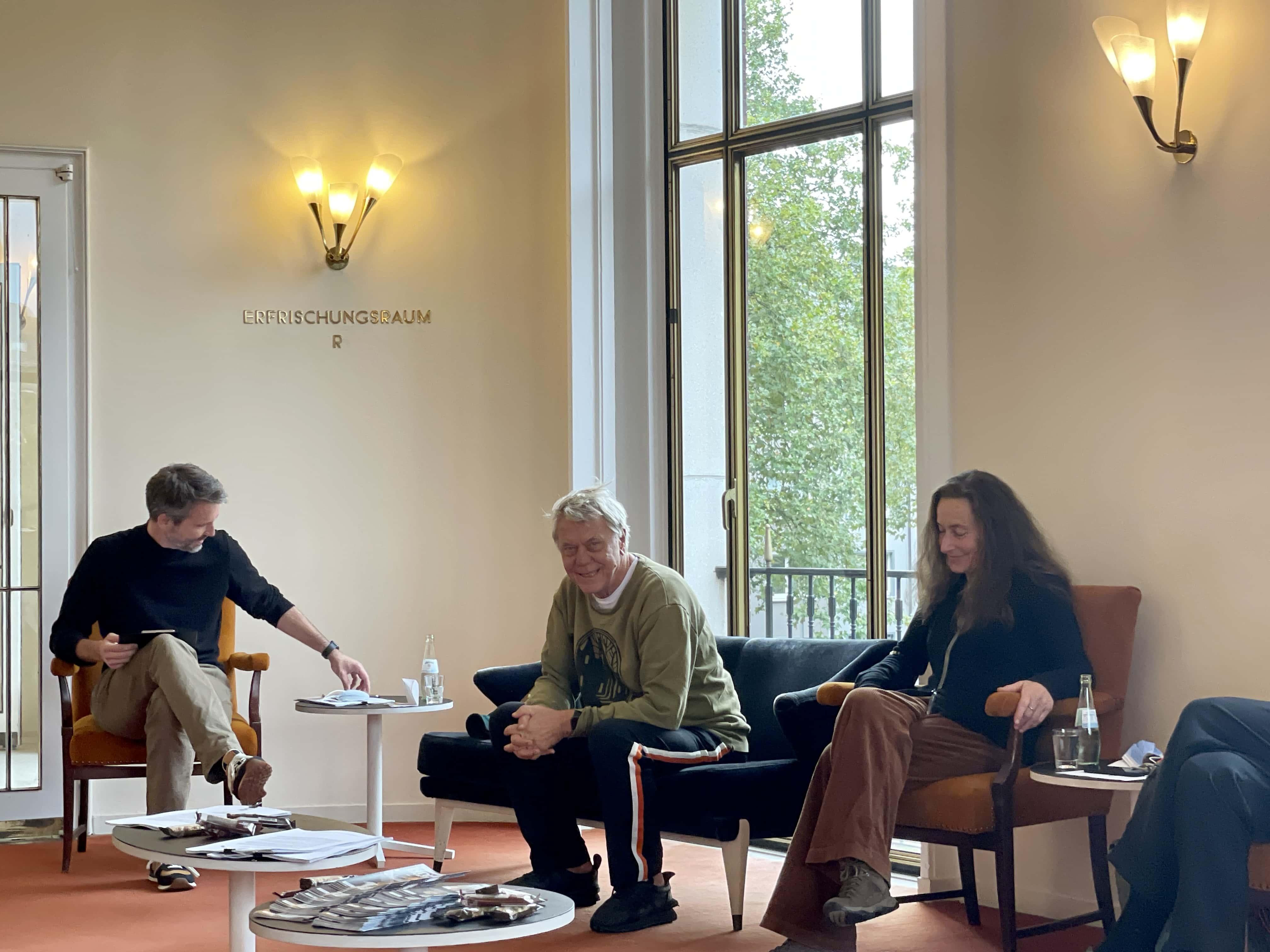 Schauspielhaus Bochum (Pressekonferenz zu den Oktober-Premieren): Alexander Kruse, Johan Simons, Susanne Winnacker
