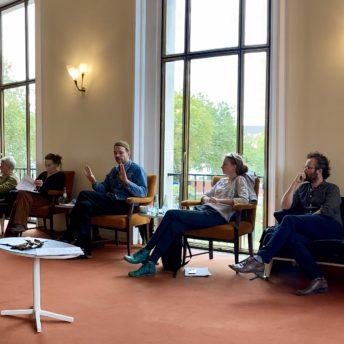 Schauspielhaus Bochum (Pressekonferenz zu den Oktober-Premieren): Alexander Kruse, Johan Simons, Susanne Winnacker, Robert Borgmann, Angela Obst, Guy Clemens
