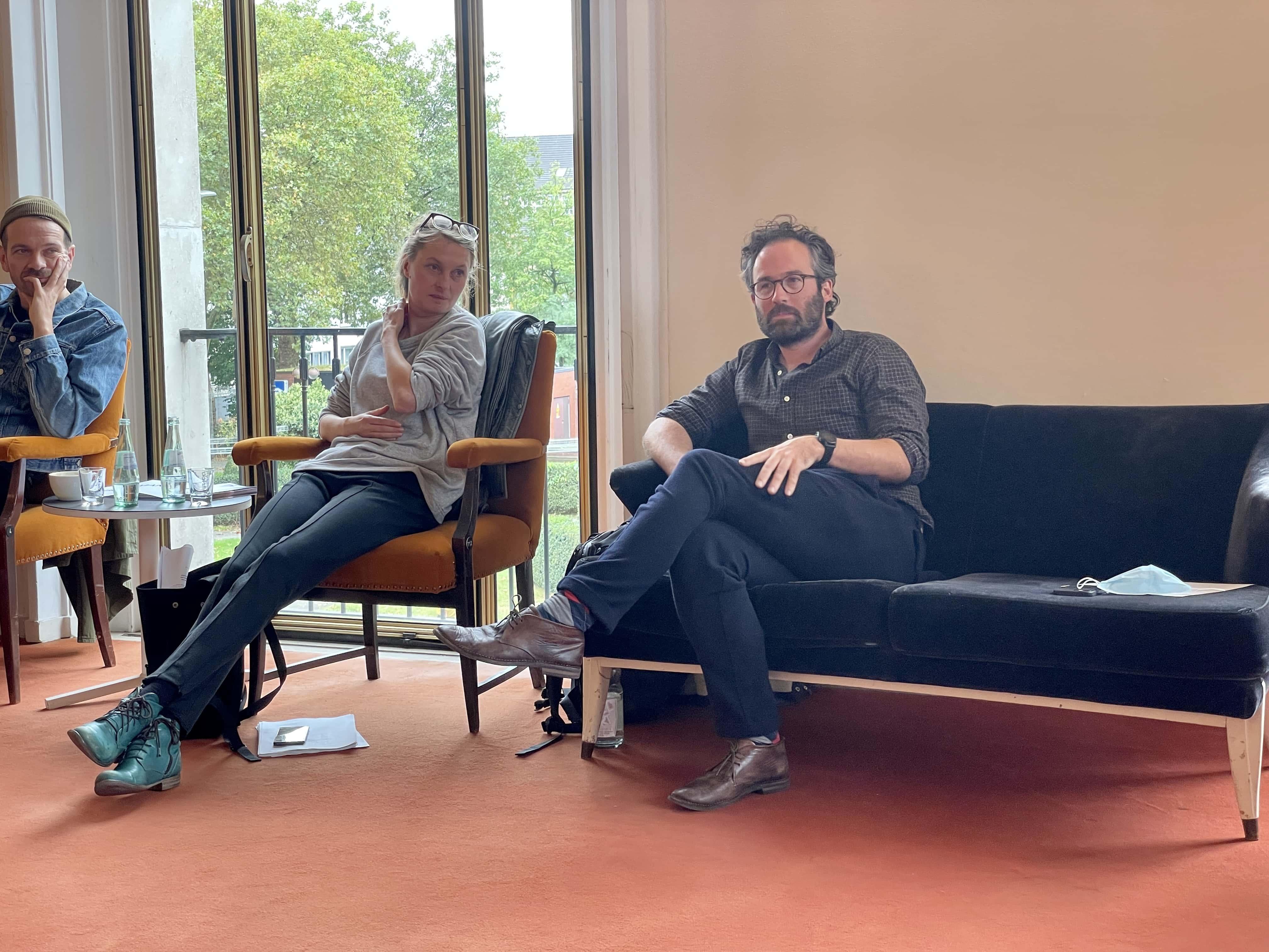 Schauspielhaus Bochum (Pressekonferenz zu den Oktober-Premieren): Robert Borgmann, Angela Obst, Guy Clemens
