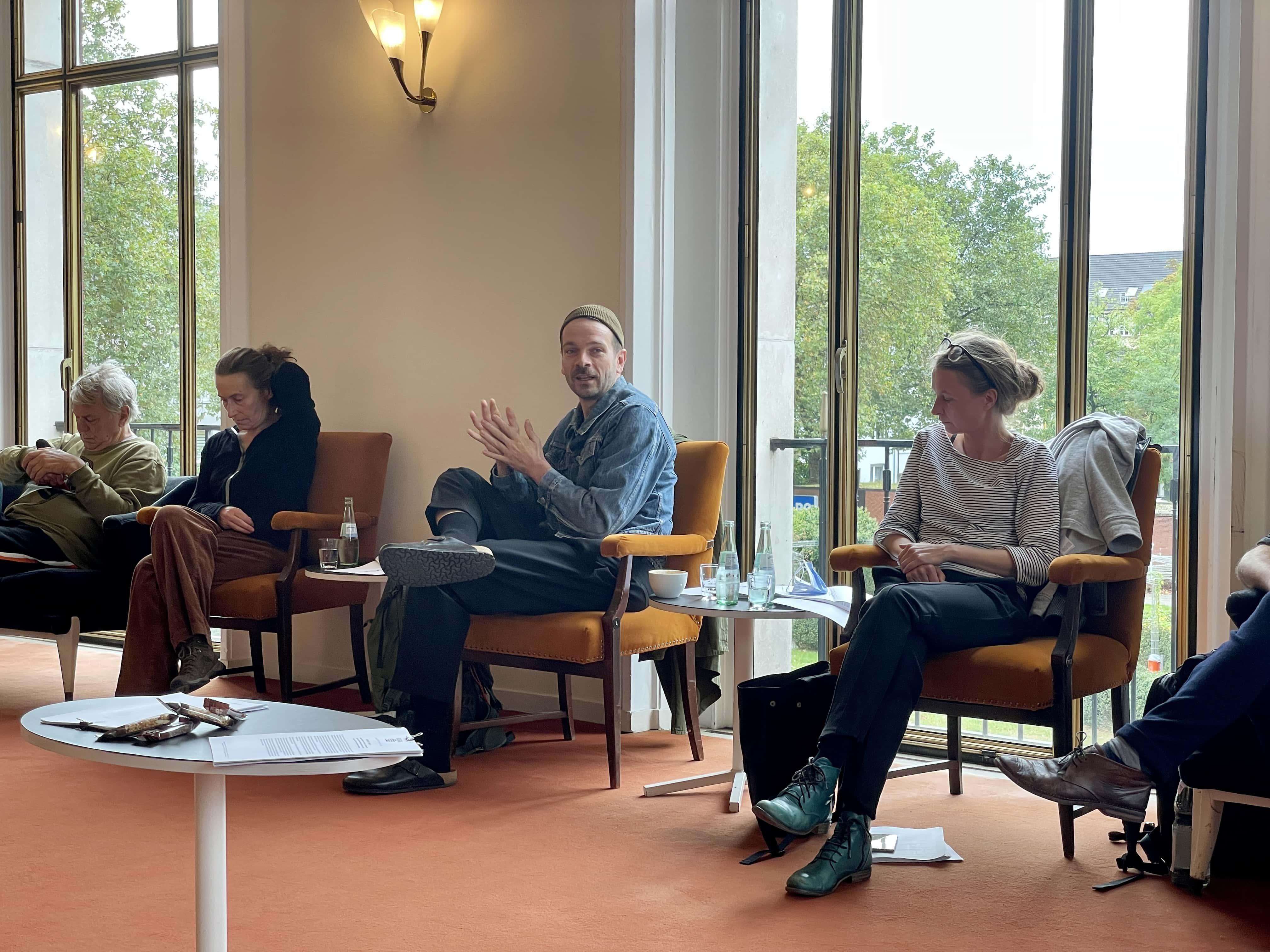 Schauspielhaus Bochum (Pressekonferenz zu den Oktober-Premieren): Johan Simons, Susanne Winnacker, Robert Borgmann, Angela Obst